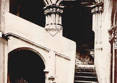 SCALONE D'ONORE - veduta frontale con una evidente superfetazione