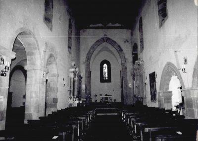 CONVENTO SAN FRANCESCO -   CHIESA.  Veduta interna della navata principale verso l'ingresso.