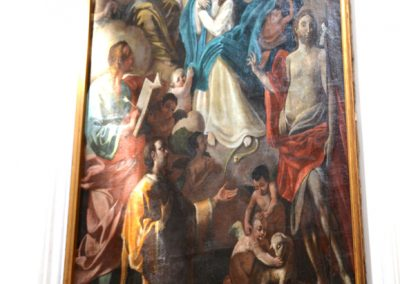 Cattedrale di Carinola. Cappella del Santissimo-quadro posto lateralmente, a destra