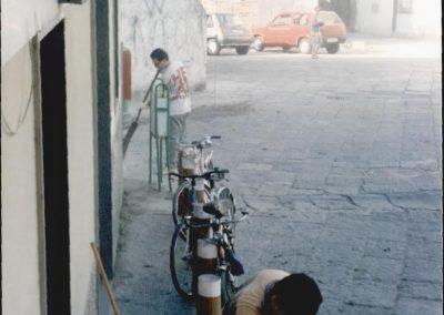 storico intervento - pulizia della città - circolo Nuova Calenum - associati e cittadini 1