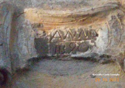 Masseria Beneventano - Incisione della data di costruzione